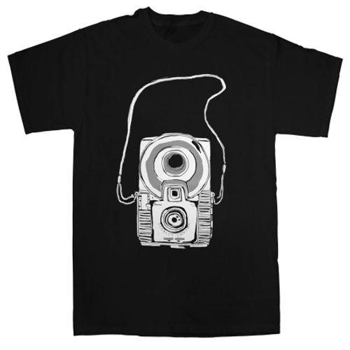 tricou-aparat-retro-negru-marimea-l-27173