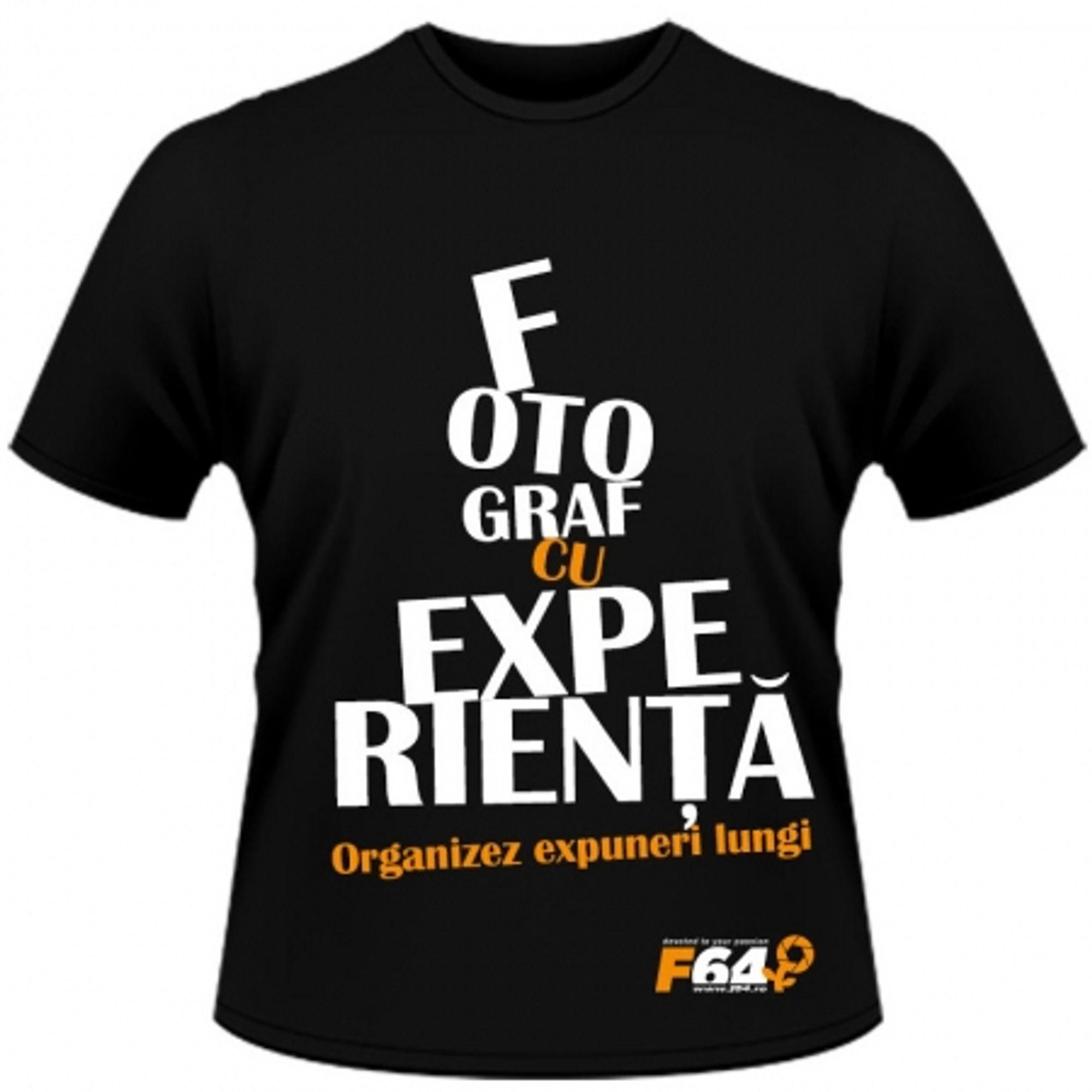 fabrică autentică magazin Regatul Unit Tricou negru - Fotograf Cu Experinta - XL - F64 Studio