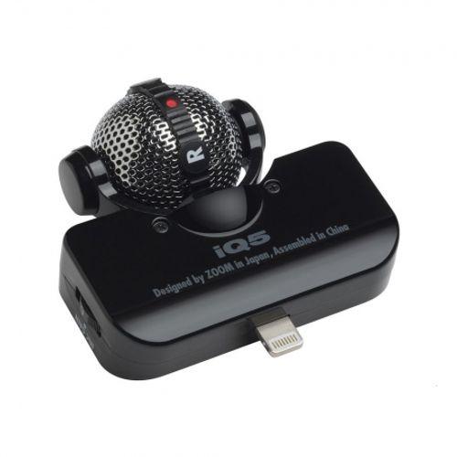 zoom-iq5-negru-microfon-stereo-pentru-iphone-5-28934