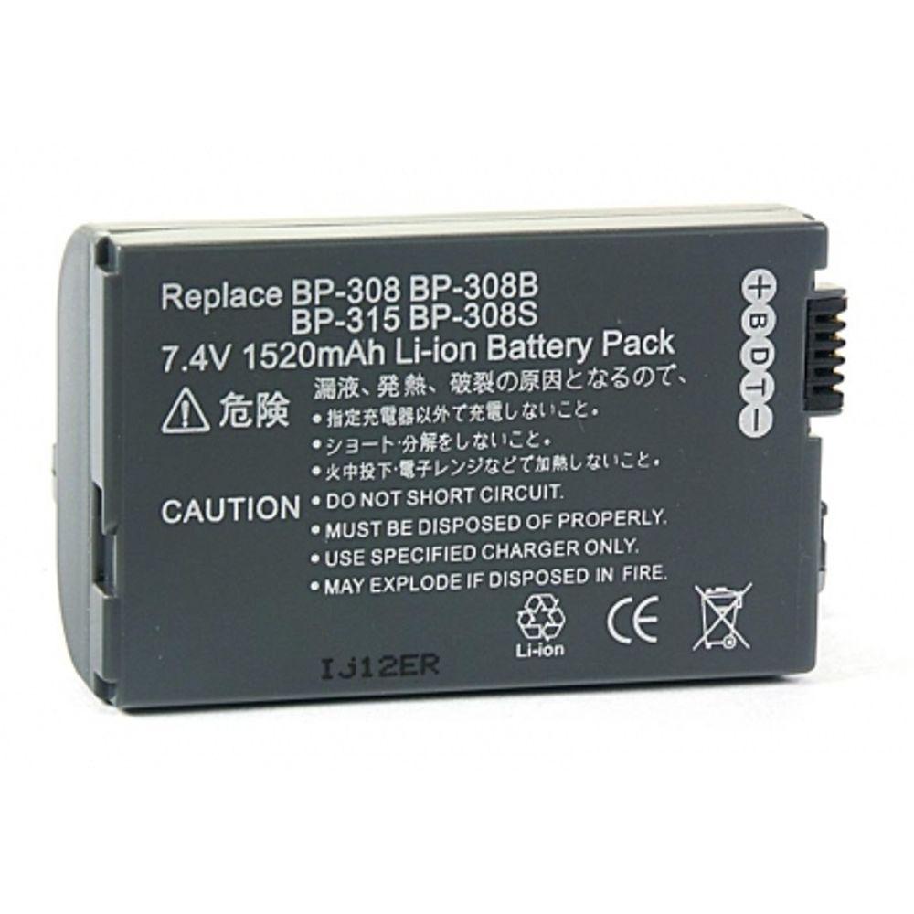 power3000-pl519g-853-acumulator-tip-bp-308-bp-308b-bp-308s-bp-315-pentru-canon-1520mah-2400