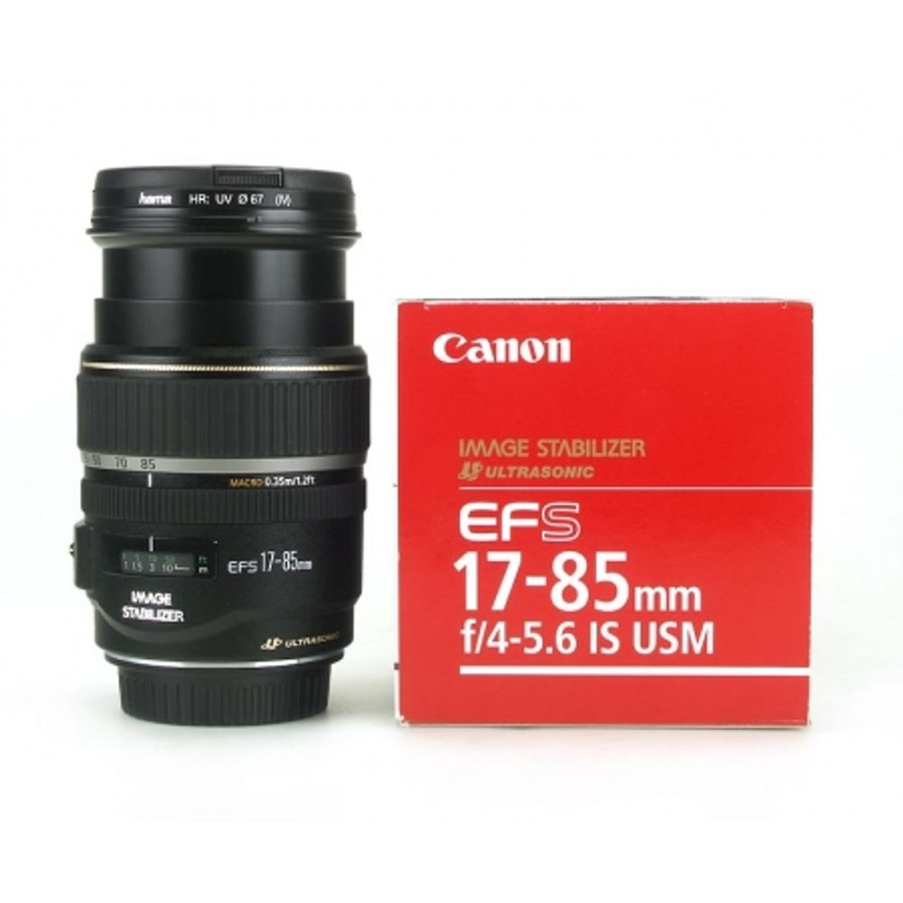 obiectiv-canon-ef-s-17-85mm-is-usm-filtru-uv-hama-67mm-3135