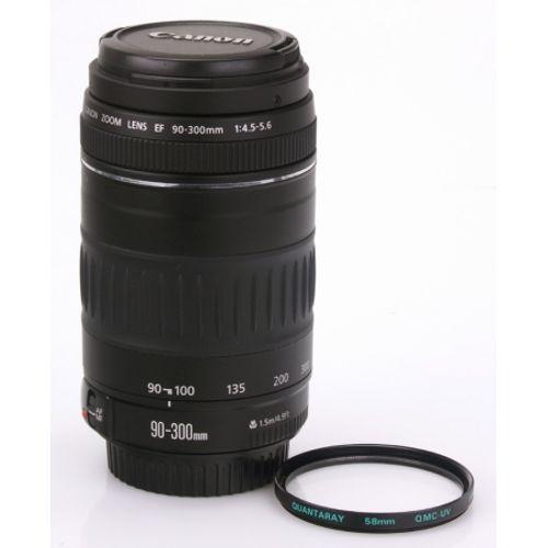 obiectiv-canon-ef-90-300mm-f-4-5-5-6-filtru-quantaray-qmc-uv-5331