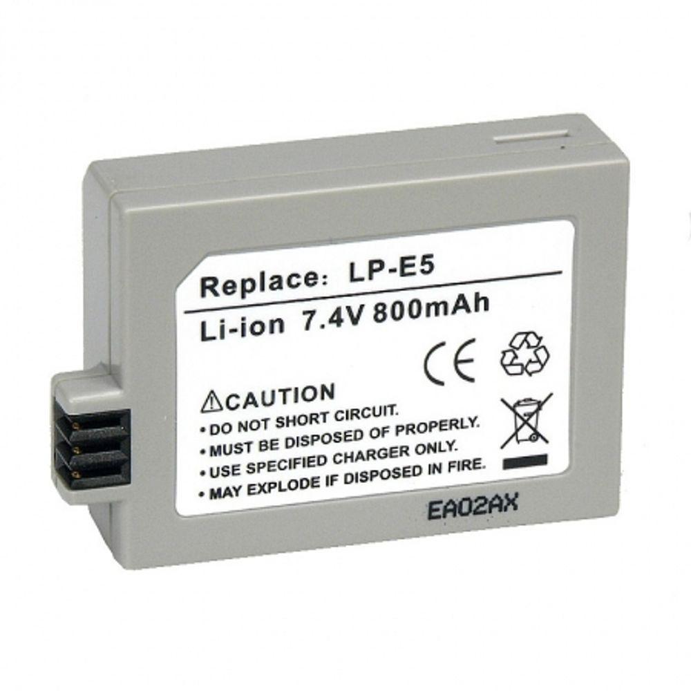 power3000-pl315g-635-acumulator-tip-lp-e5-pentru-canon-450d-500d-1000d-800mah-7587