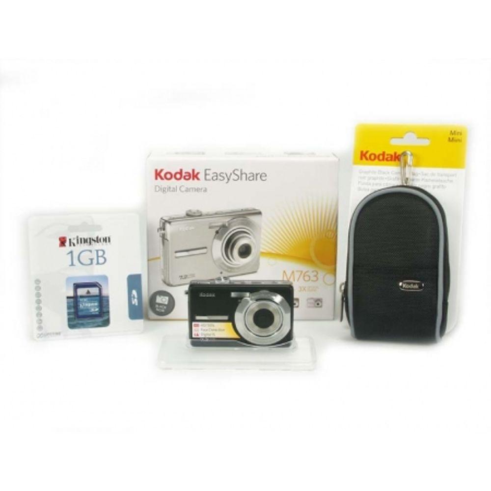kodak-m763-black-7-2-mpx-zoom-optic-3x-lcd-geanta-kodak-sd-1gb-kingston-cadou-oferta-limitata-6666