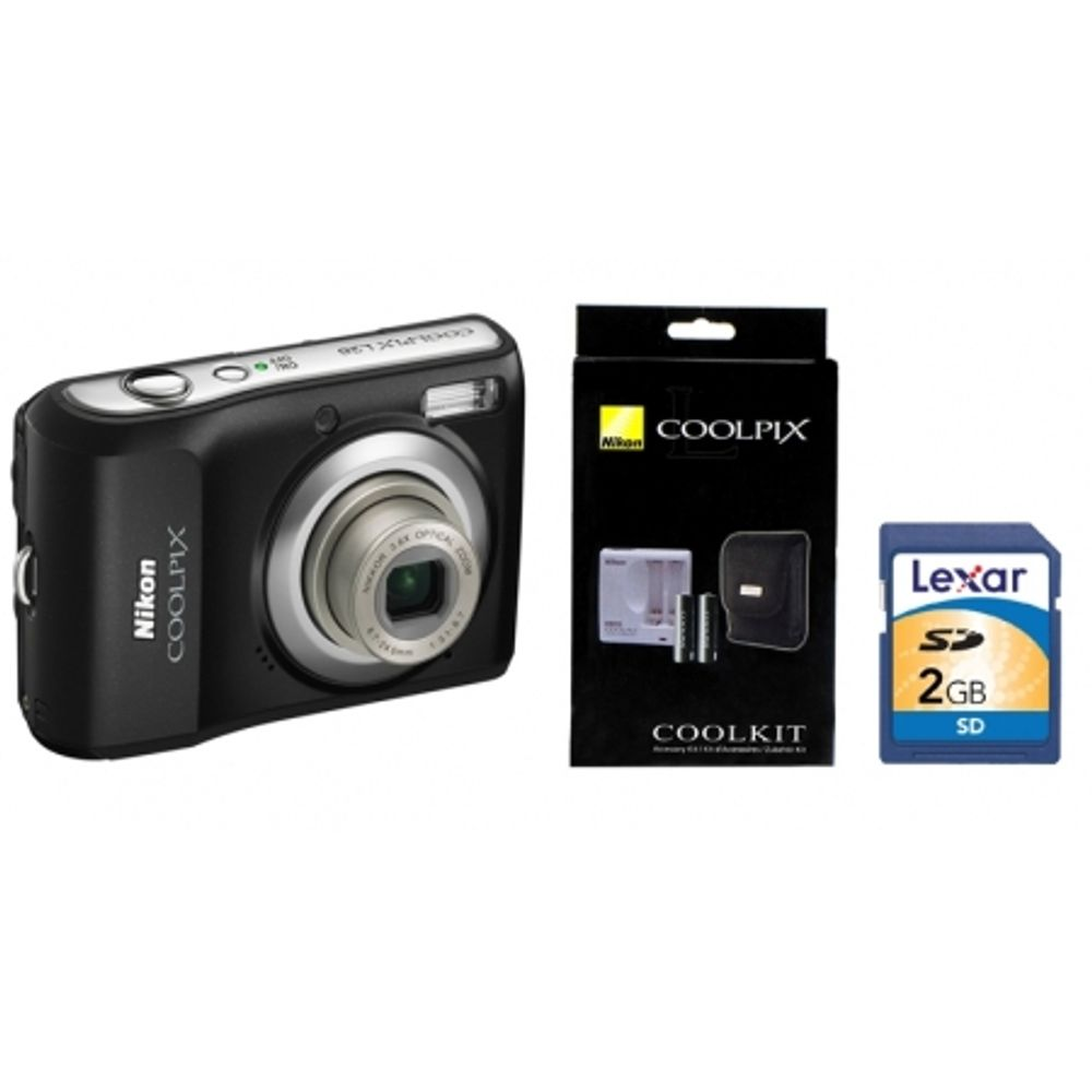nikon-coolpix-l20-black-nikon-coolkit-incarcator-acumulatori-husa-sd-2gb-lexar-class-2-9366