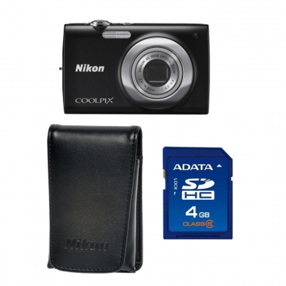 nikon-coolpix-s2500-black-card-sd-4gb-geanta-nikon-seria-s-18144