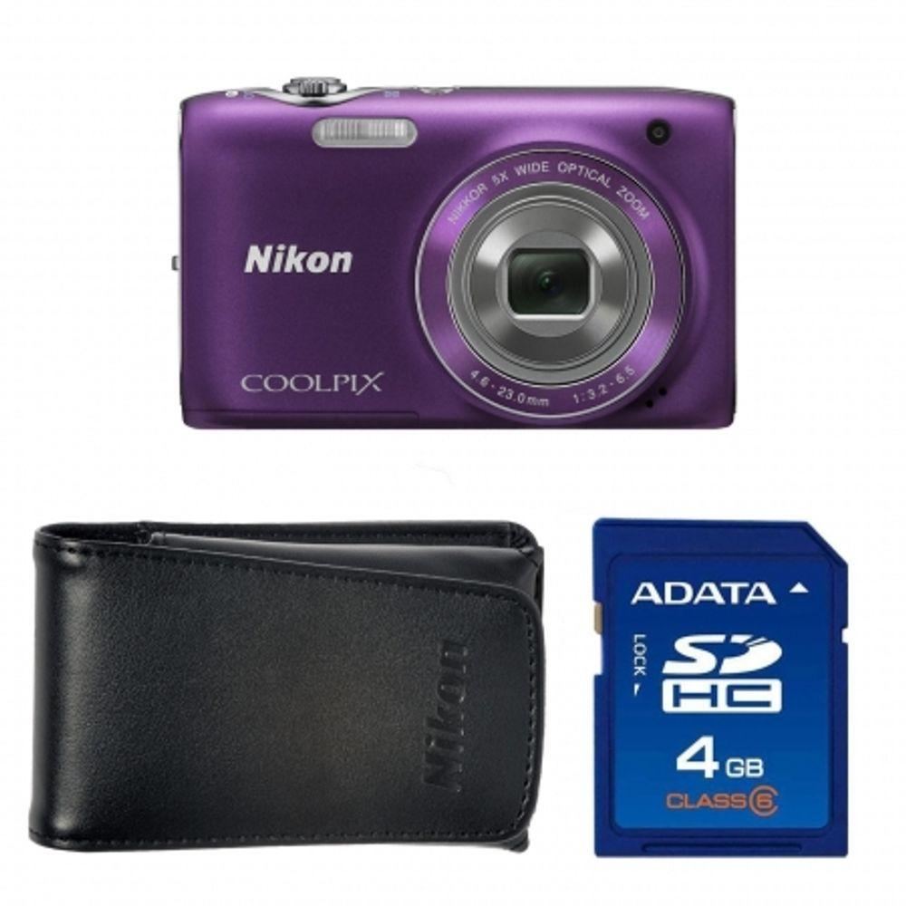 nikon-coolpix-s3100-purple-card-sd-4gb-a-data-geanta-nikon-promo-pouch-s-serie-alm2300bv-18147