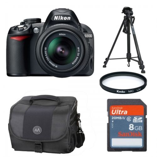 nikon-d3100-negru-kit-18-55mm-vr-trepied-geanta-card-sd-8gb-filtru-uv-52mm-cabluri-hdmi-si-usb-21591