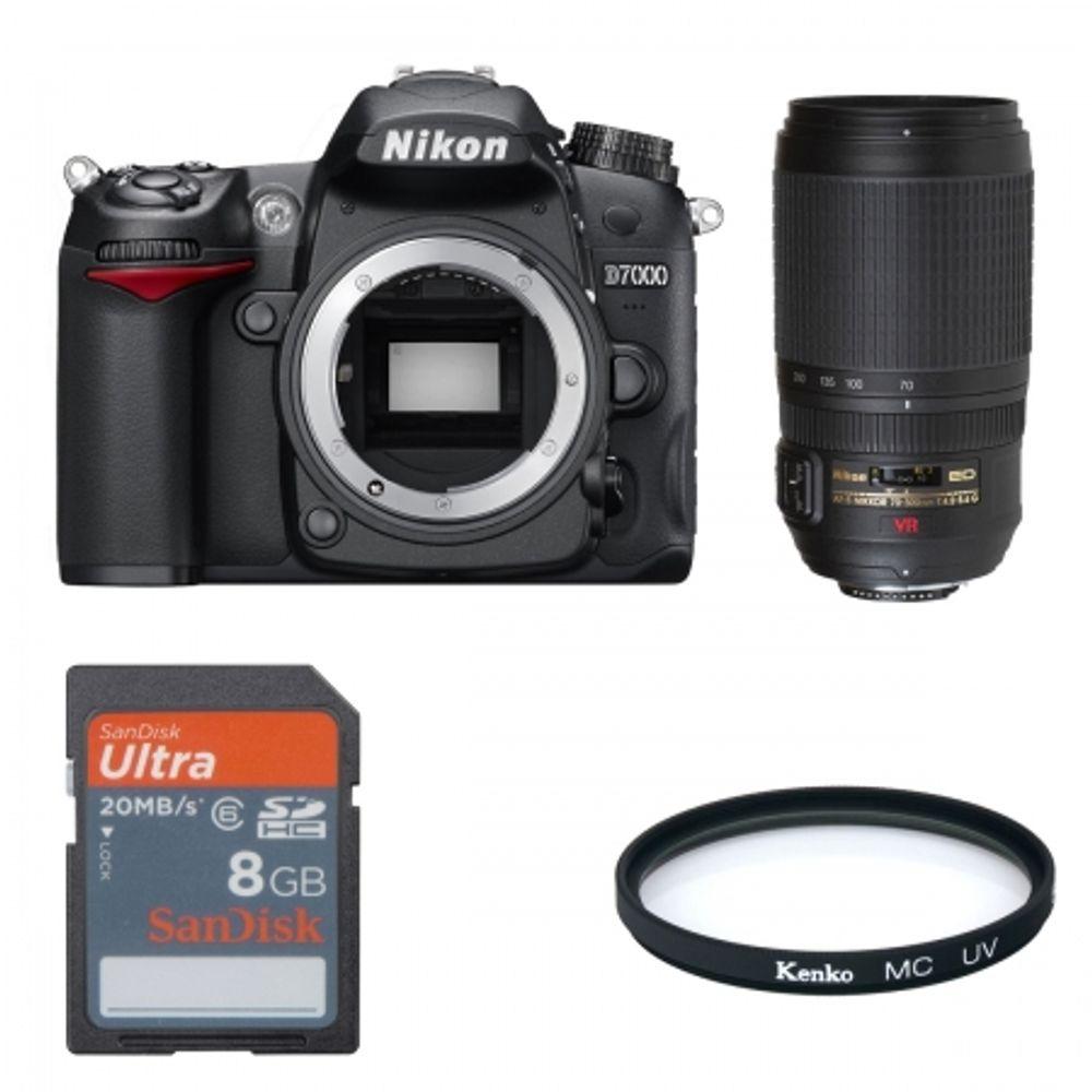 nikon-d7000-nikon-af-s-70-300mm-f-4-5-5-6-g-if-ed-vr-sd-8gb-hc-sandisk-ultra-ii-20mb-s-filtru-kenko-mc-uv-digital-21350