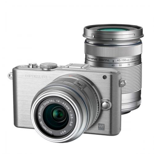 olympus-e-pl3-silver-kit-obiective-ez-m1442-ii-r-silver-ez-m40150r-silver-dzk-21809