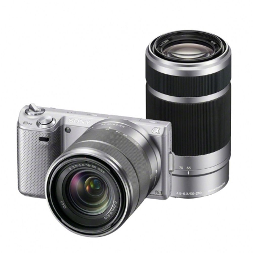 sony-nex-5n-argintiu-dublu-kit-18-55mm-55-210mm-22422