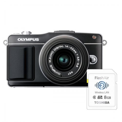 olympus-pen-e-pm2-negru-ez-m1442-ii-r-bonus-card-wireless-8gb-flashair-23957