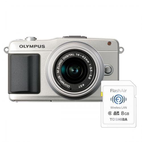 olympus-pen-e-pm2-silver-ez-m1442-ii-r-silver-bonus-card-wireless-8gb-flashair-23958