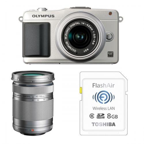 olympus-pen-e-pm2-argintiu-ez-m1442-ii-r-silver-ez-m4015-r-silver-bonus-card-wireless-8gb-flashair-23960