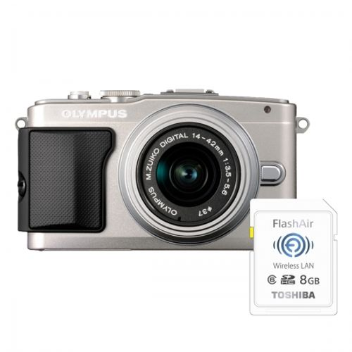 olympus-e-pl5-argintiu-ez-m1442-ii-r-silver-bonus-card-wireless-8gb-flashair-23961