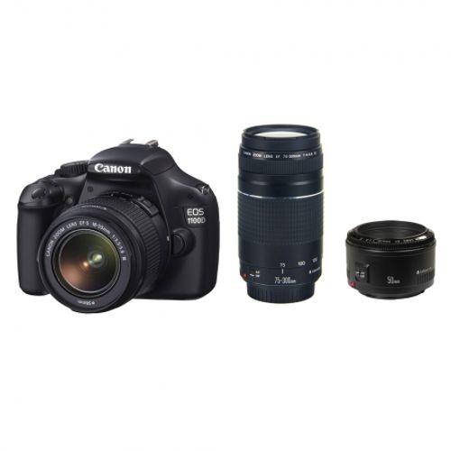 aparat-foto-canon-eos-1100d-kit-18-55mm-dc-iii-75-300mm-dc-50mm-f-1-8-26596