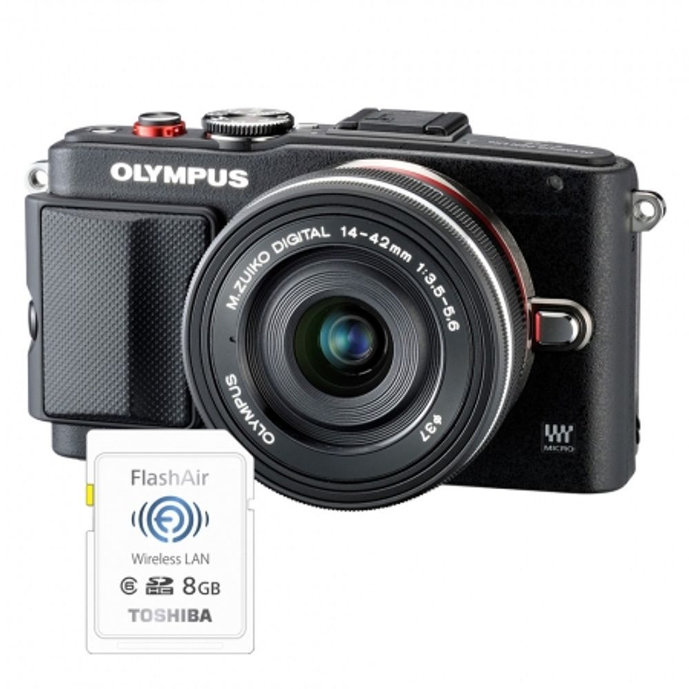 olympus-e-pl6-negru-ed-14-42mm-f-3-5-5-6-ez-negru-card-sd-8gb-flash-air--36718