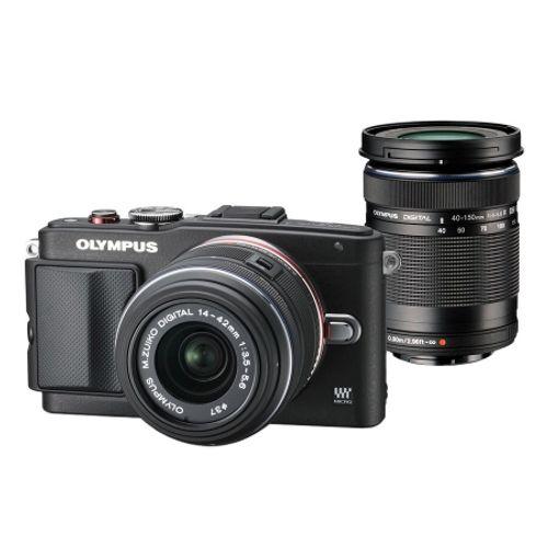 olympus-e-pl6-negru-kit-cu-14-42mm-ii-r-negru-si-40-150mm-r-negru-41120-955