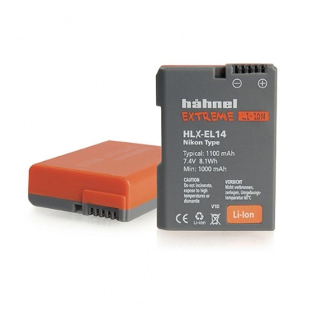 hahnel-hlx-el14-acumulator-replace-tip-nikon-en-el14--1100mah-30153