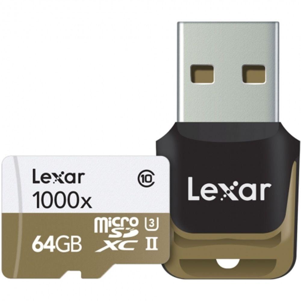 lexar-microsdxc-1000x-uhs-ii-64gb-card-cu-cititor-usb-3-0-45539-178