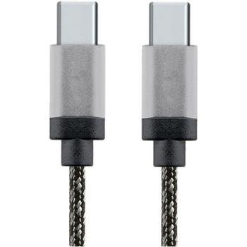 star-cablu-date-usb-tip-c-la-usb-tip-c--1m--aluminiu--alb-negru-53423-131
