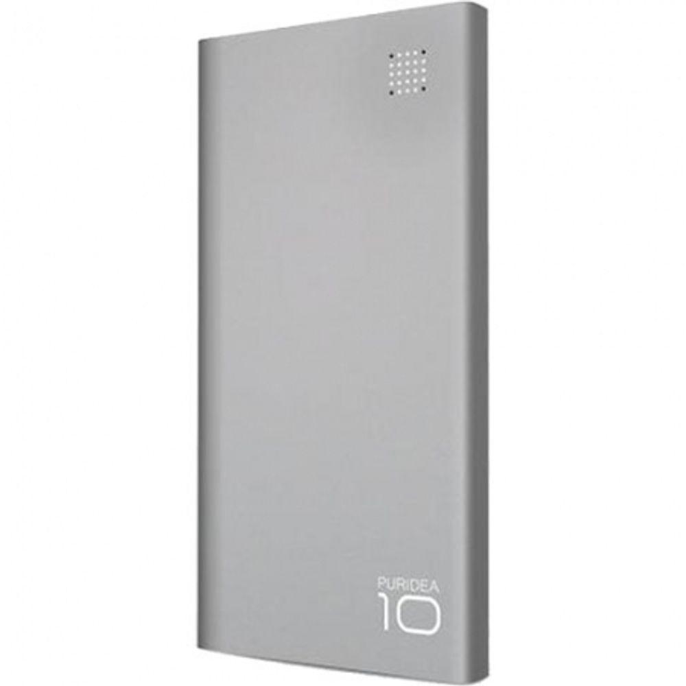 puridea-s6-baterie-externa--10-000mah--2-porturi-usb--gri--56810-174