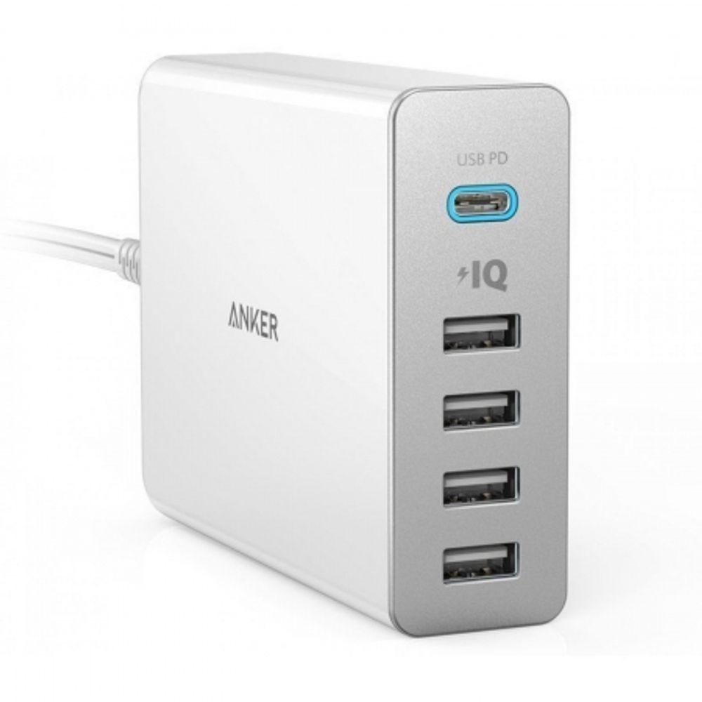 anker-powerport-5-incarcator-de-retea-premium--60w--1xusb-c--4xusb-3-0--cu-power-delivery-si-poweriq--alb-61620-130