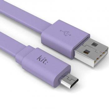 kit-fresh-cablu-date---incarcare--micro-usb--suprafata-plata--led--1-m--violet-66720-643