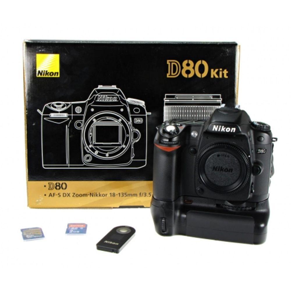 nikon-d80-body-grip-hahnel-hn-d80-3-carduri-sd-2gb-telecomanda-nikon-ml-l3-8762