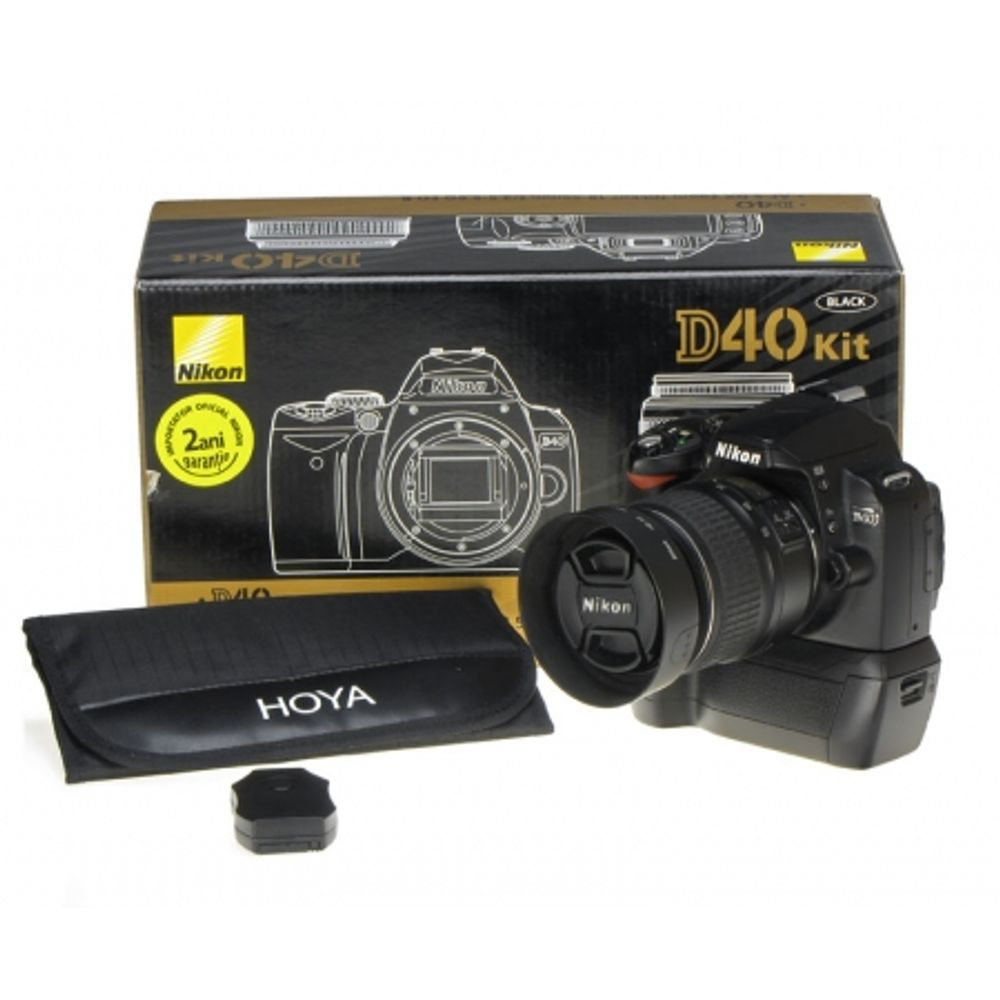 nikon-d40-nikon-18-55mm-dx-ii-battery-grip-cu-telecomanda-set-filtre-hoya-9081