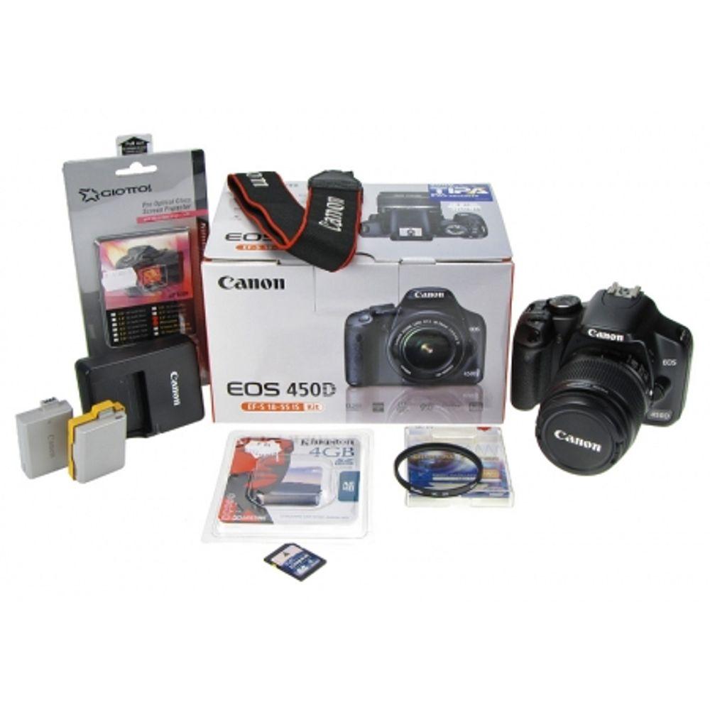 canon-eos-450d-kit-18-55mm-is-acumulator-rezerva-card-sd-4-gb-filtru-uv-58mm-ecran-protectie-lcd-10286