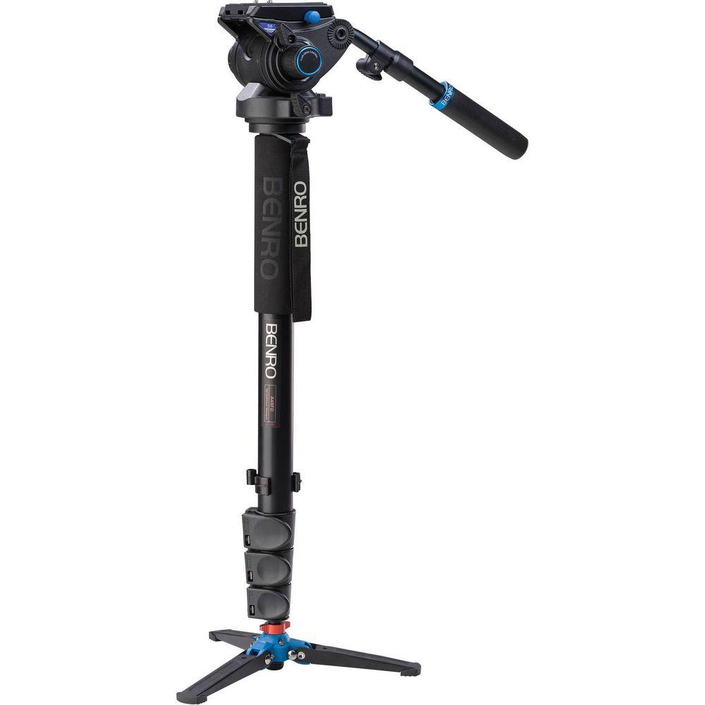 Benro A48FDS Monopied Cu Cap Video Fluid S6