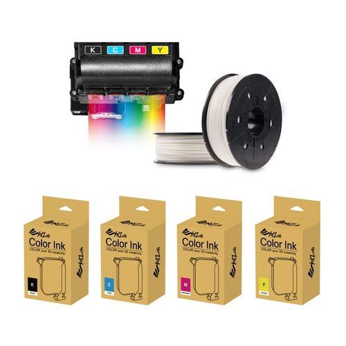 XYZprinting-Kit-Color-Starter-Ink-YMCK-20ml-si-1-Filament-Color-PLA-600g-White