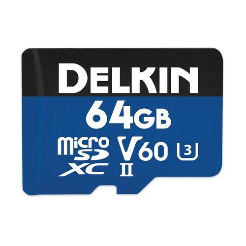 Delkin-Prime-64GB-Card-de-memorie-MicroSDXC-UHS-II-2000X-V60