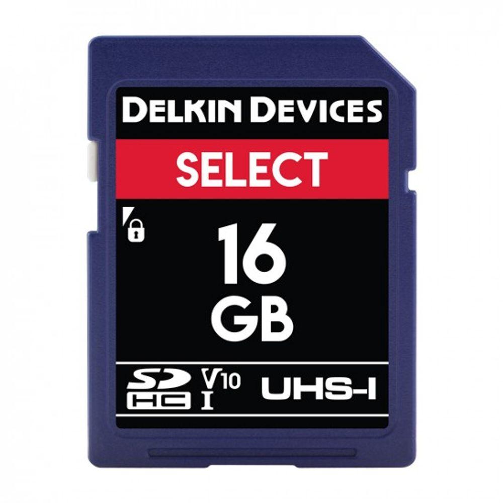 Delkin-Select-16GB-Card-de-Memorie-SDHC-UHS-I-660X-V10