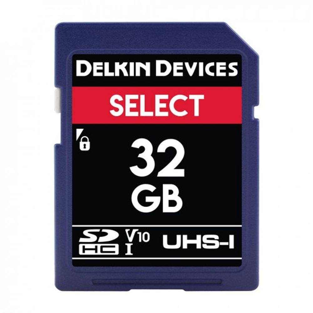 Delkin-Select-32GB-Card-de-Memorie-SDHC-UHS-I-660X-V10