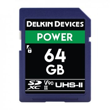 Delkin-Power-Card-de-Memorie-SDXC-64GB-UHS-II-2000X-V90