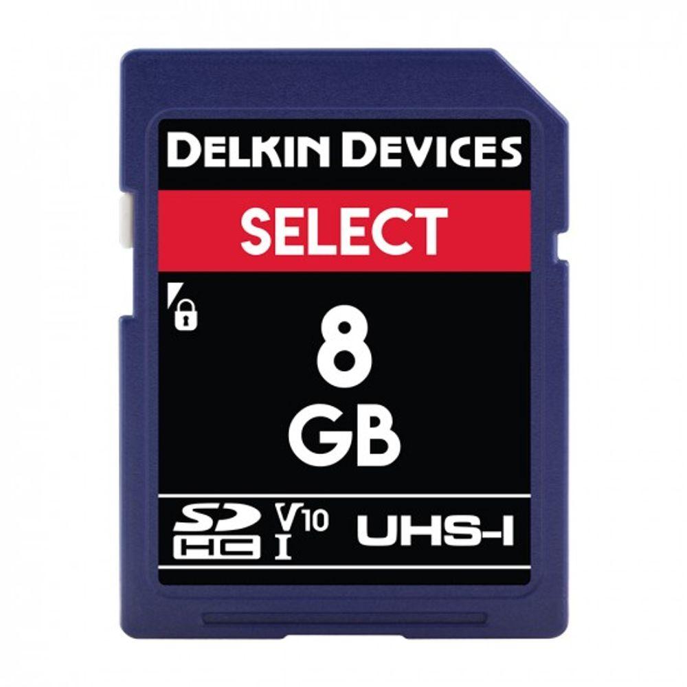 Delkin-Select-8GB-Card-de-Memorie-SDHC-UHS-I-660X-V10