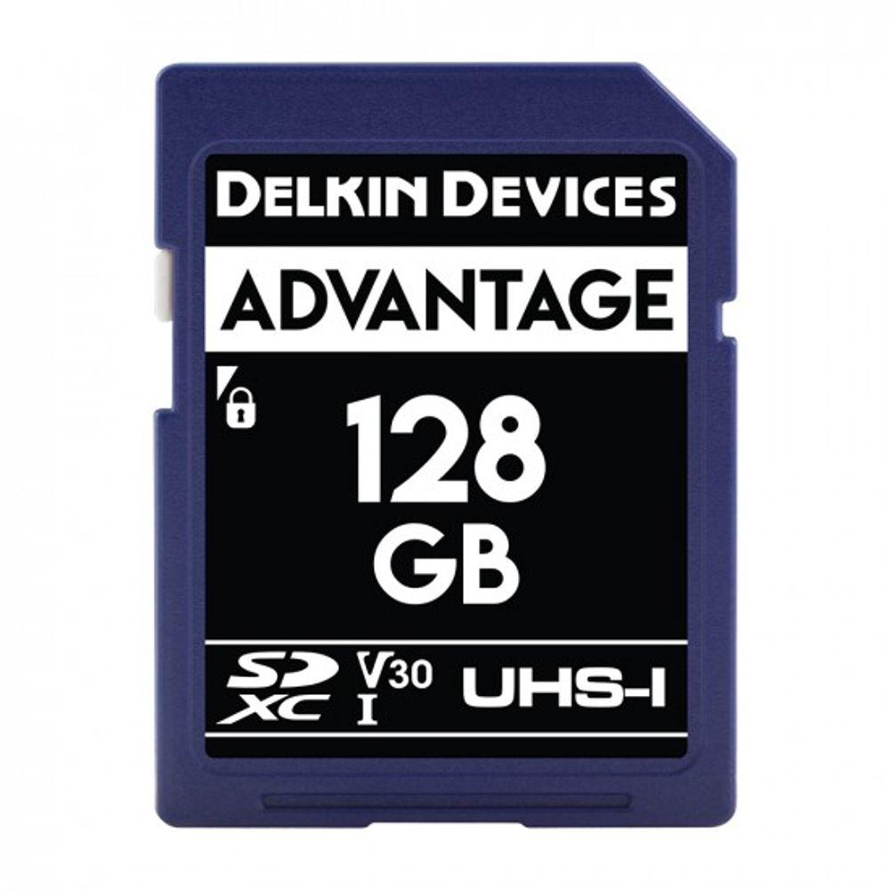 Delkin-Advantage-Card-de-Memorie-SDXC-128GB-UHS-I-660X-V30