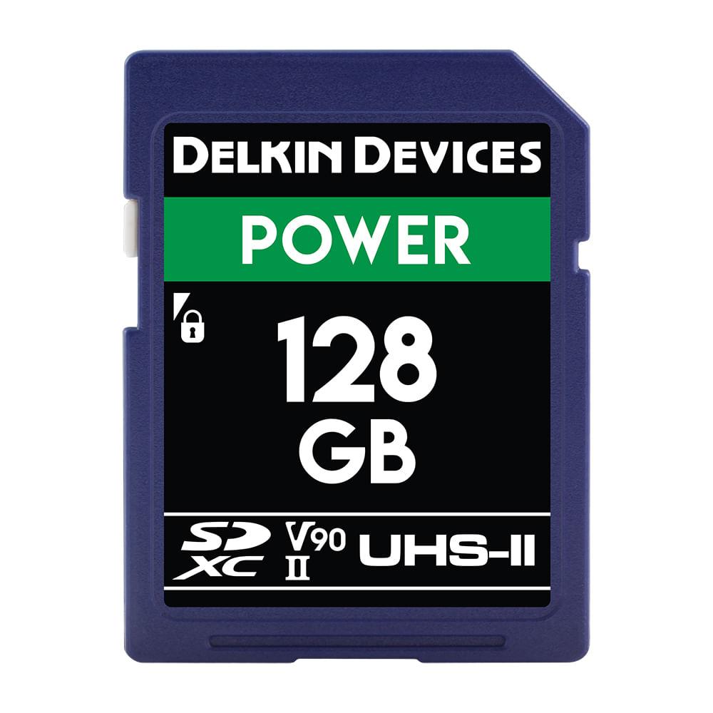 Delkin-Power-Card-de-Memorie-SDXC-128GB-UHS-II-2000X-V90