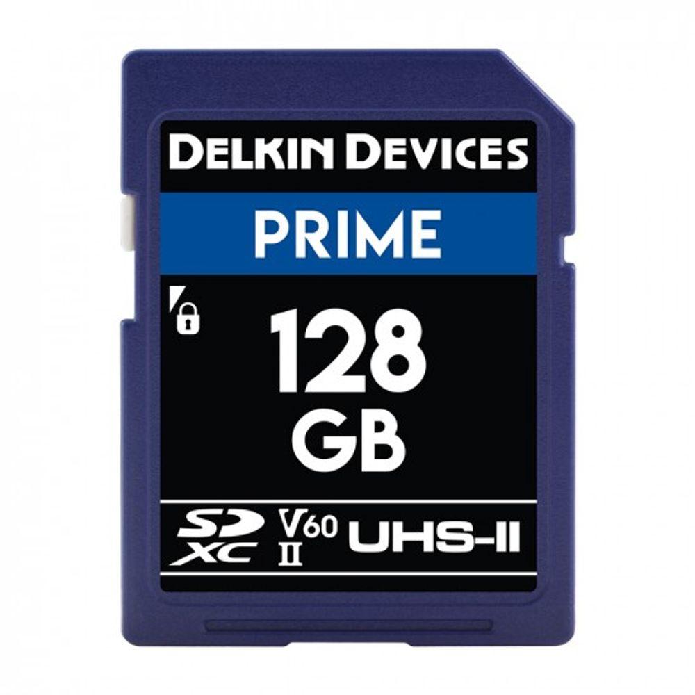 Delkin-Prime-Card-de-Memorie-SDXC-128GB-UHS-II-2000X-V60