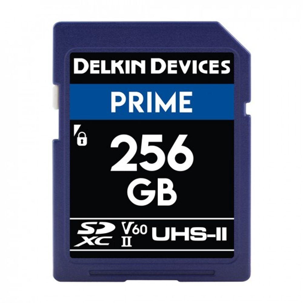 Delkin-Prime-Card-de-Memorie-SDXC-256GB-UHS-II-2000X-V60