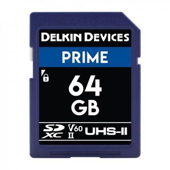 Delkin-Prime-Card-de-Memorie-SDXC-64GB-UHS-II-2000X-V60