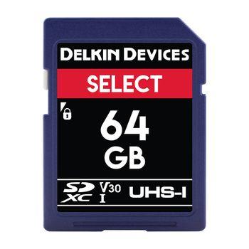 Delkin-Select-64GB-Card-de-Memorie-SDXC-UHS-I-660X-V30