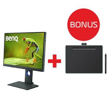 Benq-SW240-LCD-M4P-IPS-Photo-Professional--24.1W-1610-1920x1200-tableta-Wacom-CTL-6100WLE-N