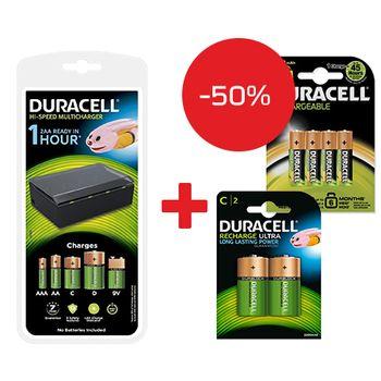 Duracell-Incarcator-universal-CEF22---Duracell-acumulatori-C-2200mAh---Duracell-acumulatori-AAK4-1300mAh