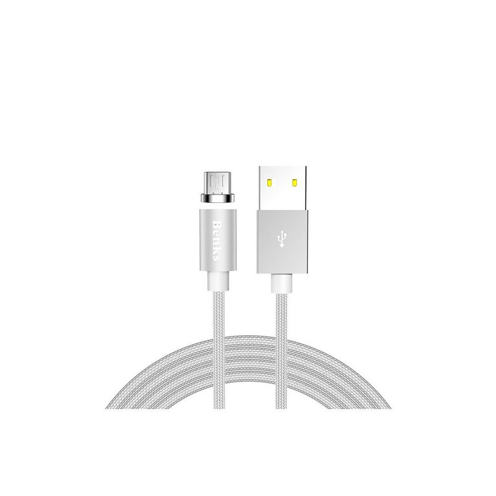 Benks-Cablu-D21-Lightning-Magnetic-1.2-m-Argintiu