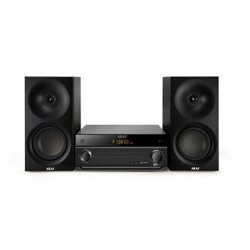 Akai-AM-301-Microsistem-Audio-2.0-Bluetooth-CD-MP3-USB-Negru