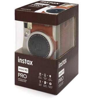 Fujifilm-Instax-Mini-90-Neo-Classic-Aparat-Foto-Instant-Kit-cu-Husa-si-Film-10-Buc-Maro