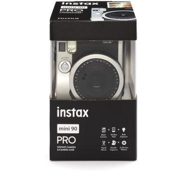 Fujifilm-Instax-Mini-90-Neo-Classic-Aparat-Foto-Instant-Kit-cu-Husa-si-Film-10-Buc-Negru